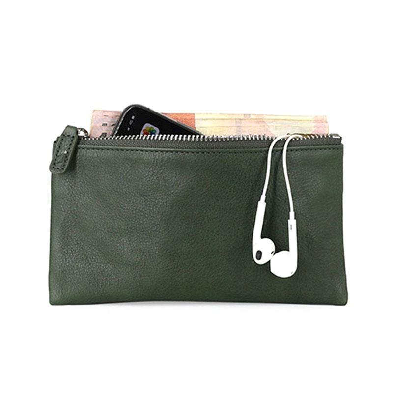 Bolsas de teléfono móvil de cuero de la planta de Aetoo, con cremallera de cabeza con cremallera con cremallera cero, bolso de colección vintage hombres