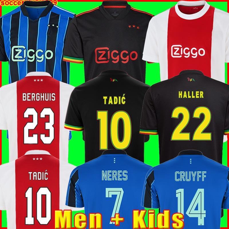BERGHUIS GRAVENBERCH Jerseys Amsterdam 21 22 KUDUS BLIND PROMES HALLER NERES CRUYFF KLAASSEN 2021 2022 men kids kit Soccer football shirt MARLEY third black cao
