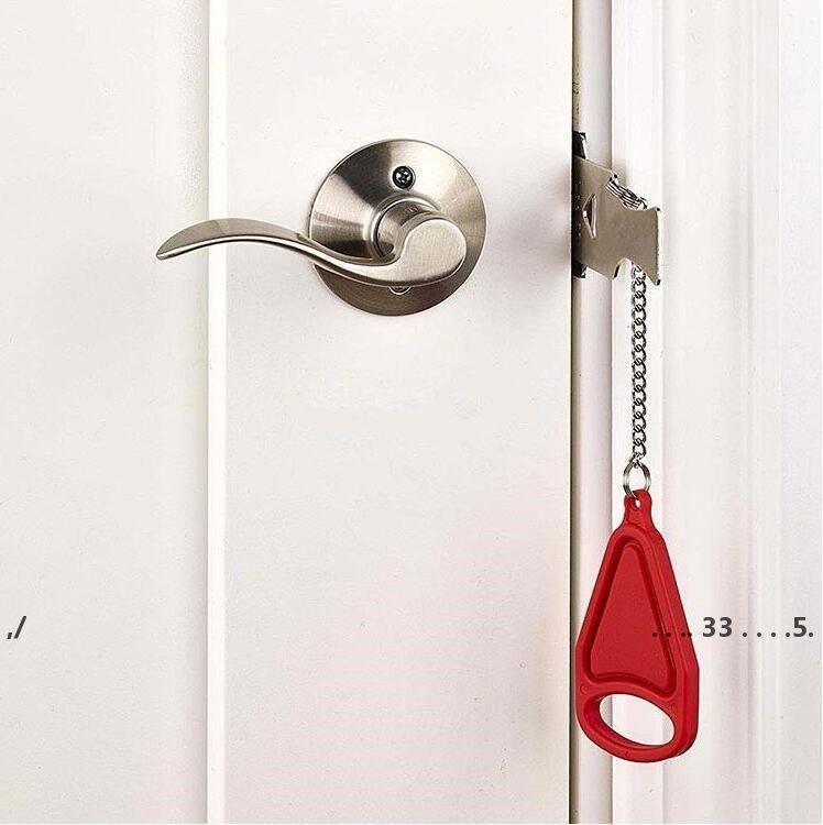 Nueva cerradura de seguridad portátil Kid Safe Security Puerta de seguridad Hotel Pestillos portátiles Locks Anti-Robo Locks Herramientas de inicio EWA4147
