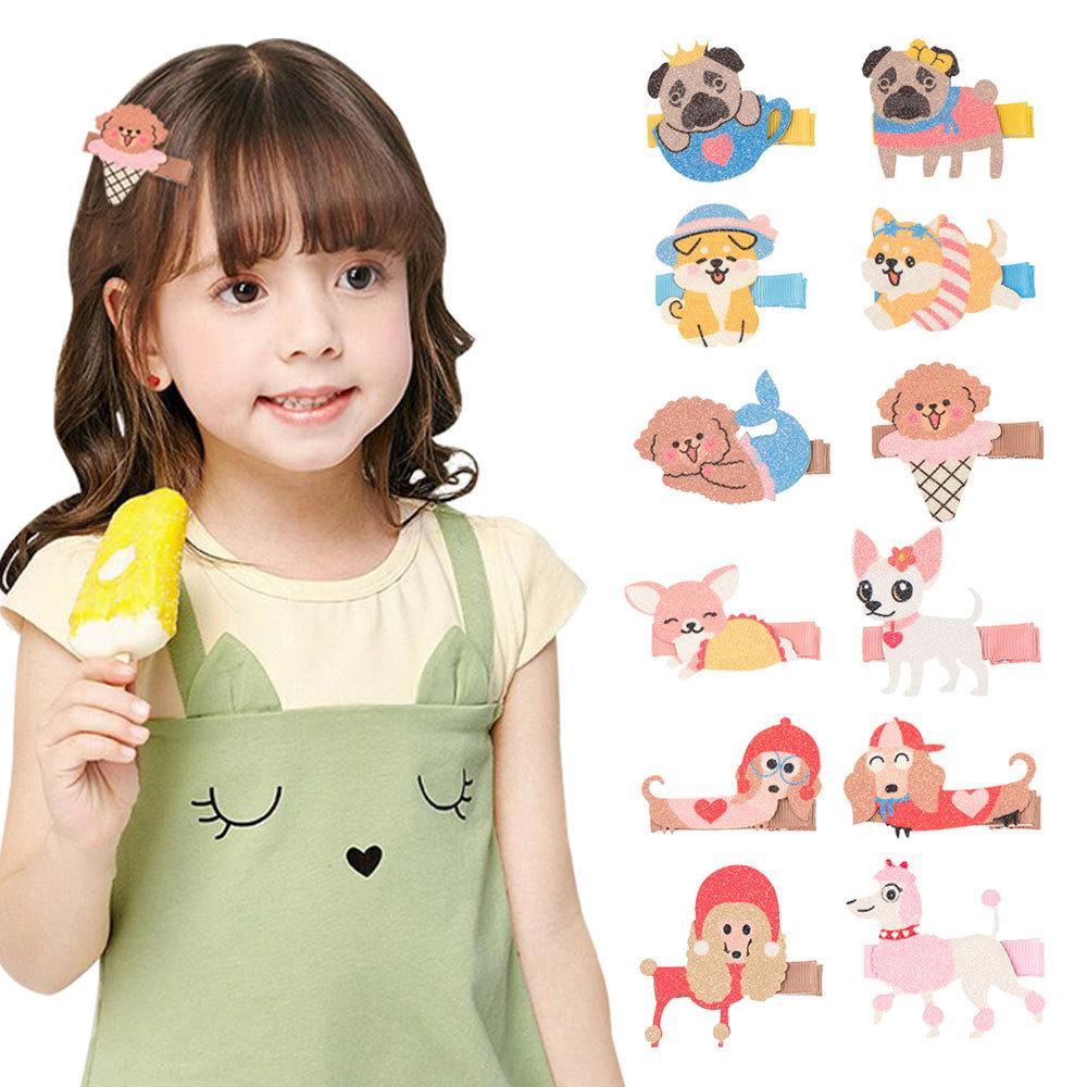 Free DHL MQSP Cute Animals Hairpin for Baby Girls Toddler Fashion Mini Hair Accessories Kids Princess Kawaii Barrettes Hairclip Party Supplies Children