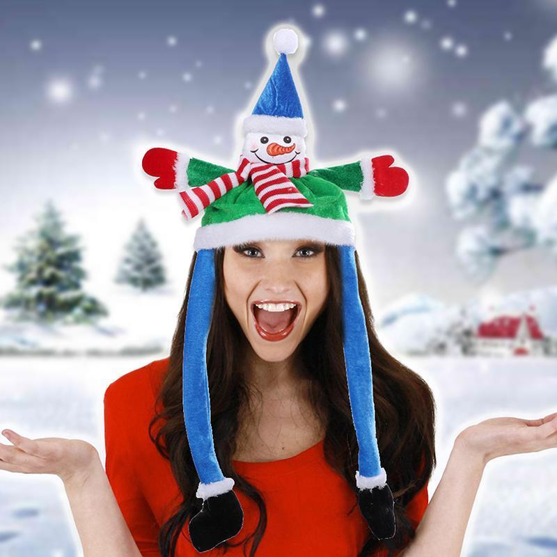 Party Hüte 2021 Glühende lange Ohren Plüsch Weihnachten LED Urlaub Dekorationen Weihnachtsmütze für Santa Claus Kinder Erwachsene Geschenk