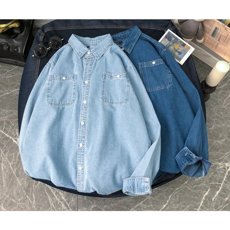 가봇 쿠 남성 긴 소매 유행과 잘 생긴 frock 셔츠 캐주얼 셔츠