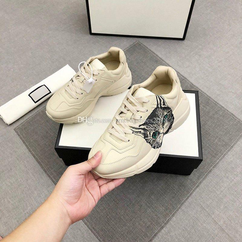 Classic multicolore Top Quality Casual Shoe Shoe Uomo Real Leather Sneakers Sneakers Mocassini Lace Up Donne Fashion Lussurys Designer Designer Shoes Womens with Box Dimensione 35-46