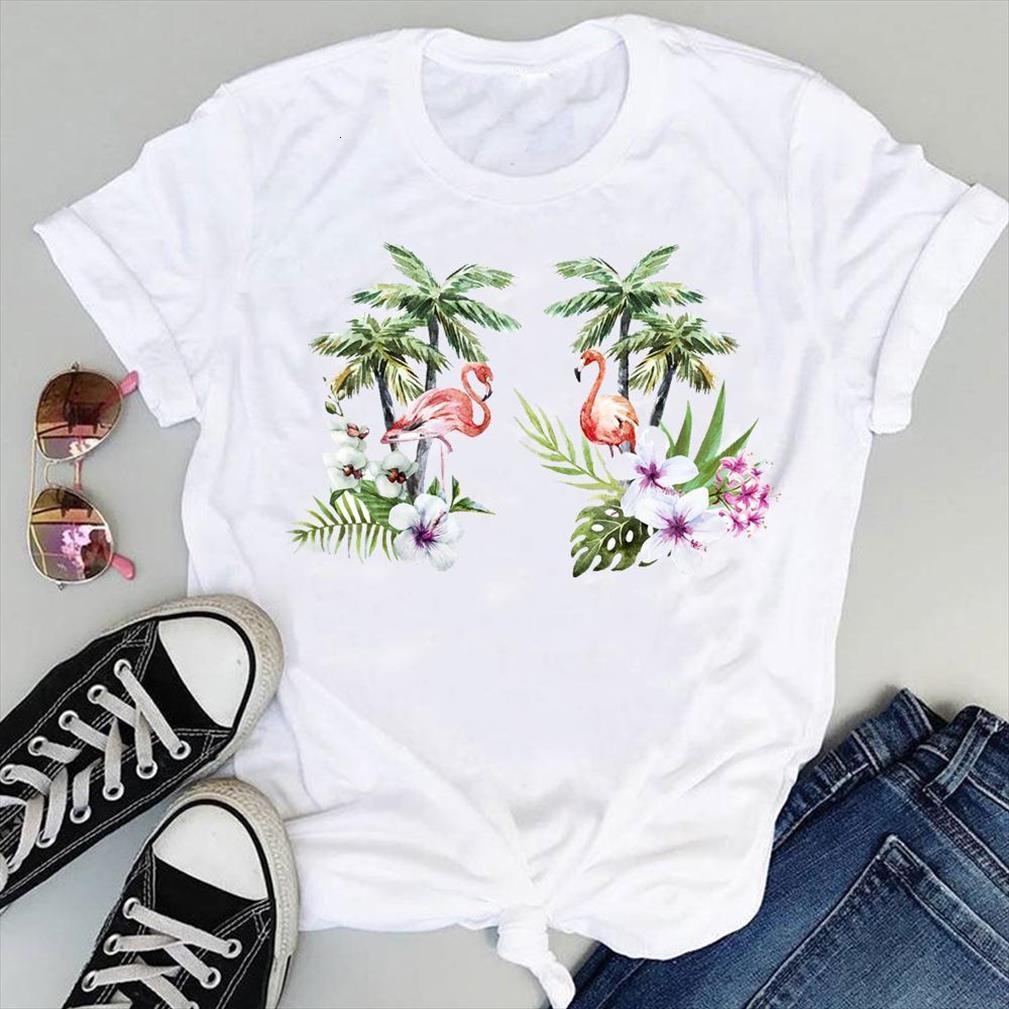 And Women Cartoon Flamingo Mens T Shirts Beach Floral Animal Short Sleeve Graphic Summer Fashion Print Female Clothes Tops Tees