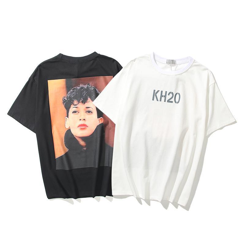 Homens Mulher de Algodão Tee Designer Top Summer Hip Hop Moda Camisas Loose Unisex Mens Mulheres Tops Oversize Confortável T Fog-2