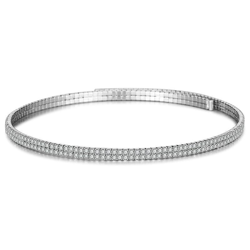 LILIEHITE Luxus Mode Strass Klaue Kette Choker Halskette Für Mädchen Vintage Frau Hochzeit Schmuck HC CHOKERS