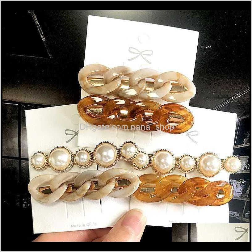 Korea Ins Pearl Barrettes Haarnadel Frau Mädchen Headwear Trendy Haarnetz Ornament Seitenclip Mode Haarschmuck Geschenk HA4ZO RWZTP