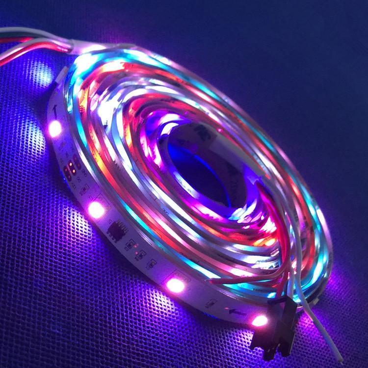 5 M 12 V WS2811 SMD 30LED / 48LED / 60LED / M Dijital RGB Rüya Renk Piksel / 1 IC Sürücüler 3LED Çip / Su Geçirmez IP30 / IP65 / IP67 LED Şeritler