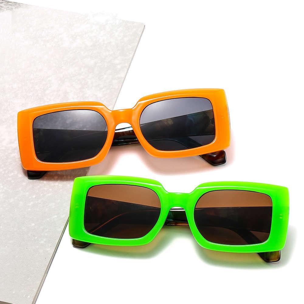 Cliente Nova Caixa Colorido Moderno Ins Estilo Sunglass Personalidade Quadro Pequeno Vidro Homens e Mulheres Moda Sunglass 6938