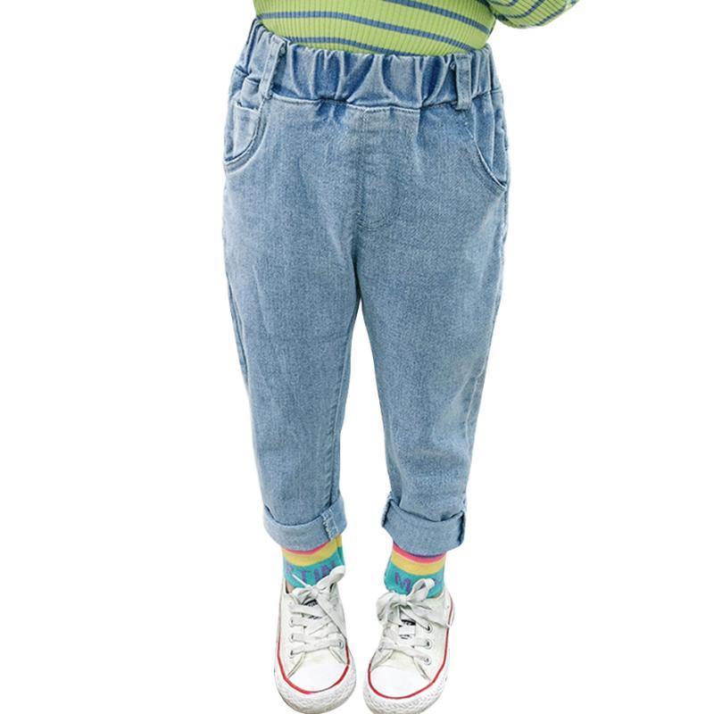 Jeans Baby Baby letra Chica Rainbow Smoking Infantil Ropa de remiendo