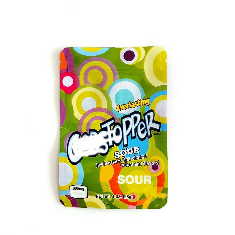 Vuoto GobStopper Candy Gummies Gummies Mylar Bags Edibles Baggies odore di prova del supporto