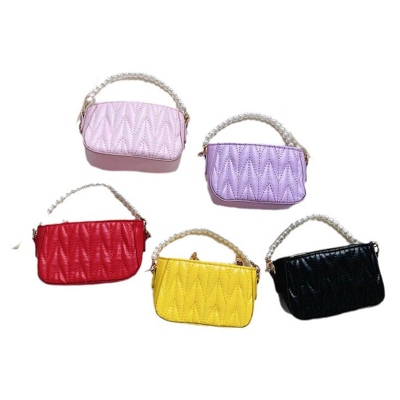 Girls Handbags Kids Bags Children Accessories Mother and Daughte Mini Autumn Winter Chain Pearl Candy Color Pu Leather Shoulder Messenger Bag Backpack B8436
