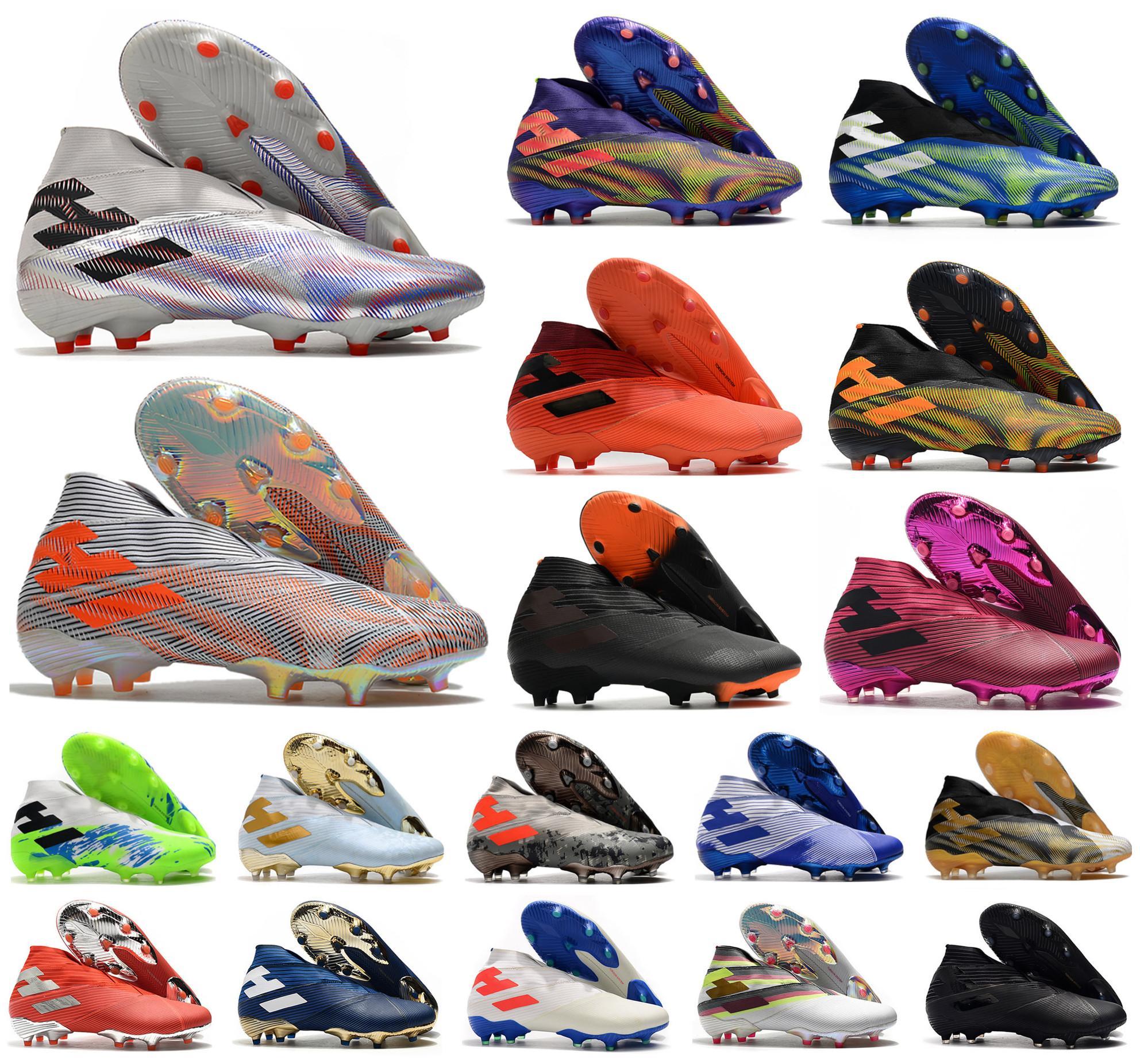 2021 Mens Nemezsiz Messi Rey Del Balon .1 19+ Laceless FG Futbol Ayakkabıları Futbol Superlicative Uniforia Paketi Superspektral + X Yüksek Ayak Bileği Çizmeler Cleats Boyutu US6.5-11