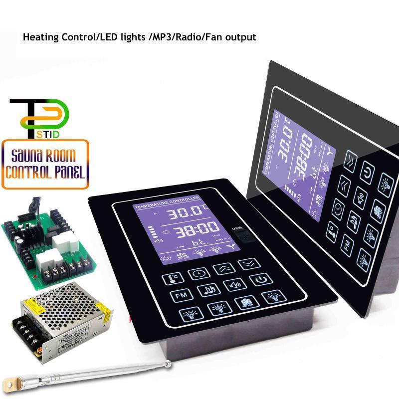 스마트 홈 컨트롤 16A 4.5KW 다기능 시간 온도 조정을위한 사우나 서모 스탯 18 ~ 110 ° C