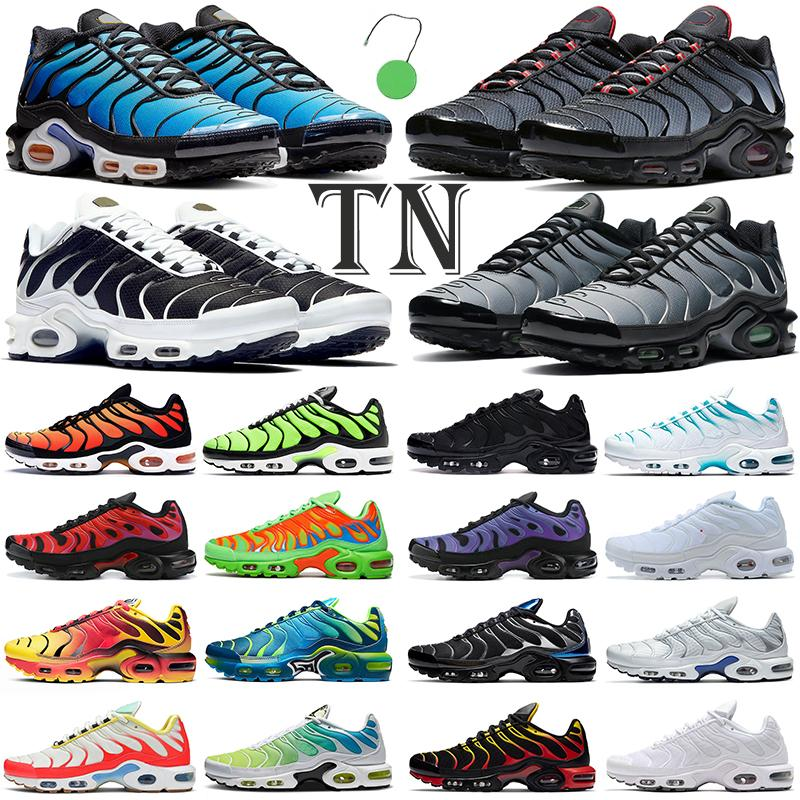 TN Run Обувь Мужчины Женщины на открытом воздухе Plus TNS Hyper Blue Triple Black Oreo Crater Mens Womens Trainers Спортивные кроссовки