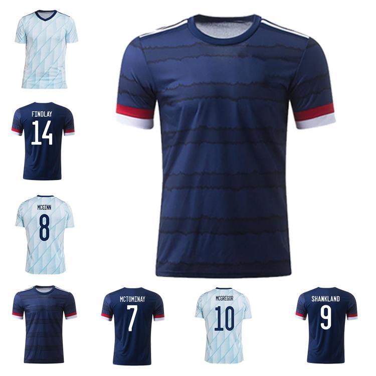 Escocia Jerseys de fútbol Hogar 2021 Fraser Robertson Camisa de Fútbol McGinn Naismith McGregor Christie Forrest Away Camisetas Uniformes Men + Kit Kit