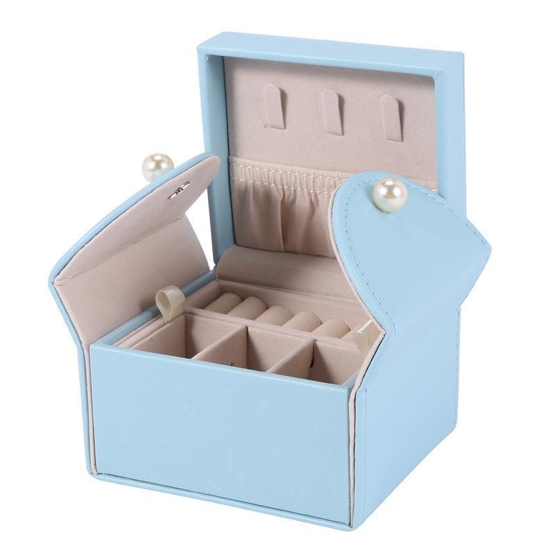 Schmuckbeutel, Taschen Kleine Box Organizer Mikrofaser PU-Leder Lageretui für Ohrringe Ringe Halsketten