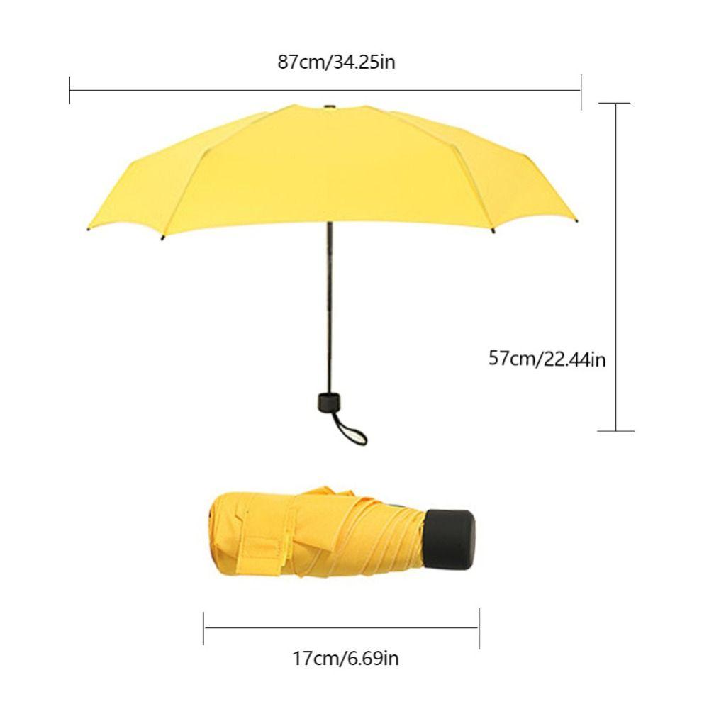 Sun guarda-chuva pequeno portátil bolso cápsula fêmea ensolarado chuva dupla propósito guarda sol anti ultravioleta protetor solar doces cor
