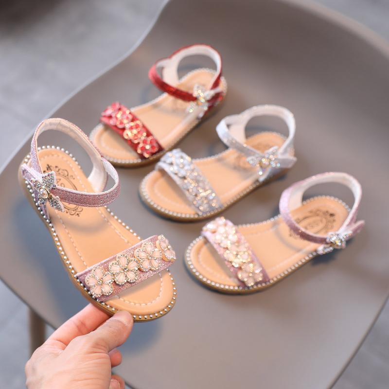 유아 키즈 아기 소녀 신발 공주 캐주얼 나비 샌들 키즈 'Chaussures 플레이트 Buty Dla Dziewczynki