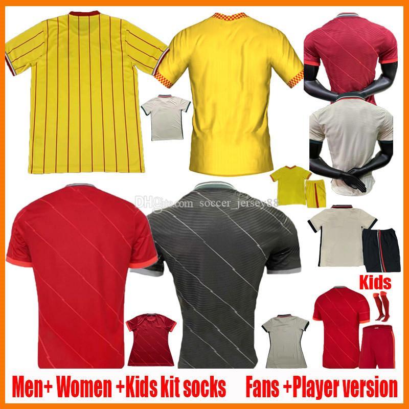2021 2022 Fussball Jerseys Fans Spielerversion Männer Frauen Kinder 20 21 22 Club Football Hemd 2021-22 Ladys Jersey Kind Camisa de Futebol Leere Camiseta Uniform Kits