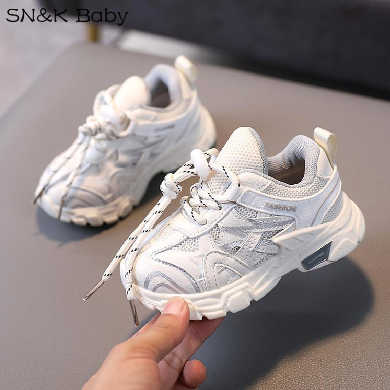 Athletic & Outdoor 2021 Spring Kids Sport Shoes For Girls Casual Shoe White Students Breathable Mesh Toddler Footwear Boys Sneakers Lightwei