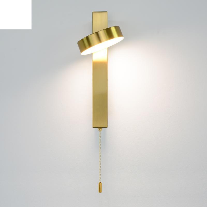 현대 벽 빛 9W 스위치 LED 램프 골드 램프 거실 실내 조명 화이트 블랙 조명기