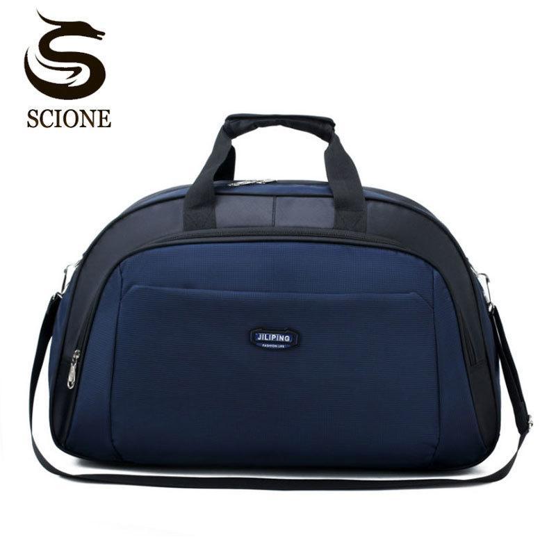 Scione Rahat Seyahat Çanta Su Geçirmez Erkekler Bagaj Bavul Dayanıklı Duffel Omuz Çantası Kadınlar Büyük Kapasiteli Hafta Sonu Spor 210329