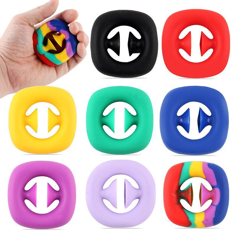 2022 защелкивающиеся сенсорные силиконовые ручные игрушки Игрушки Snappers Fidget Toys Fidget Sensory Grip Ring DHL Доставка