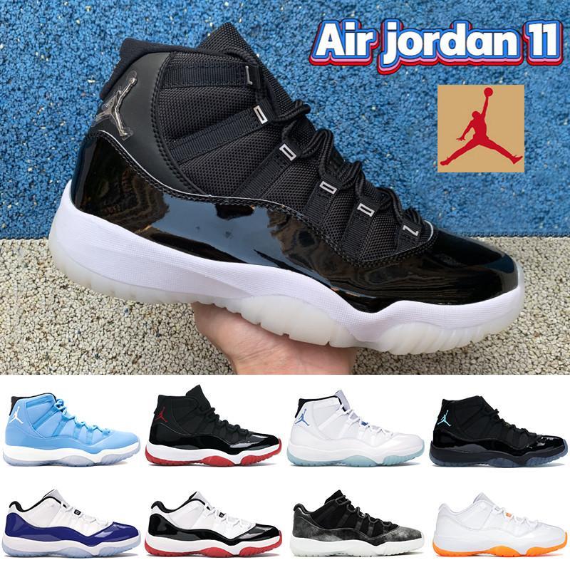 Yüksek 11 Düşük efsane Üniversite mavi 11'ler erkekler Basketbol Ayakkabıları 25. Yıldönümü beyaz yetiştirilmiş uyum 45 pantone kadın Sneakers erkek eğitmenleri