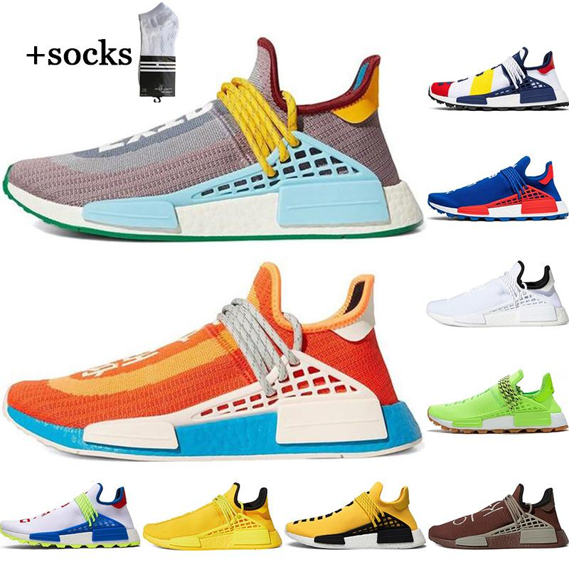 سباق الجري البشري أحذية Nerd Pharrell Williams X بي بي سي الأصفر الأسود الرياضية الرجال النساء أحذية رياضية 36-45