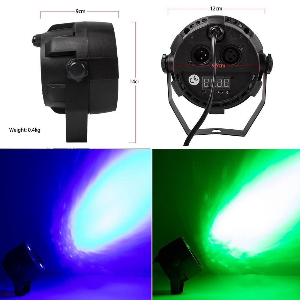 1 قطع led 7x18 واط rgbwa + uv ضوء الاسمية مع dmx512 6in1 المرحلة ضوء غسل تأثير dj disco 7x12W 54x3W 12x3W مصغرة الصمام الأضواء 10W