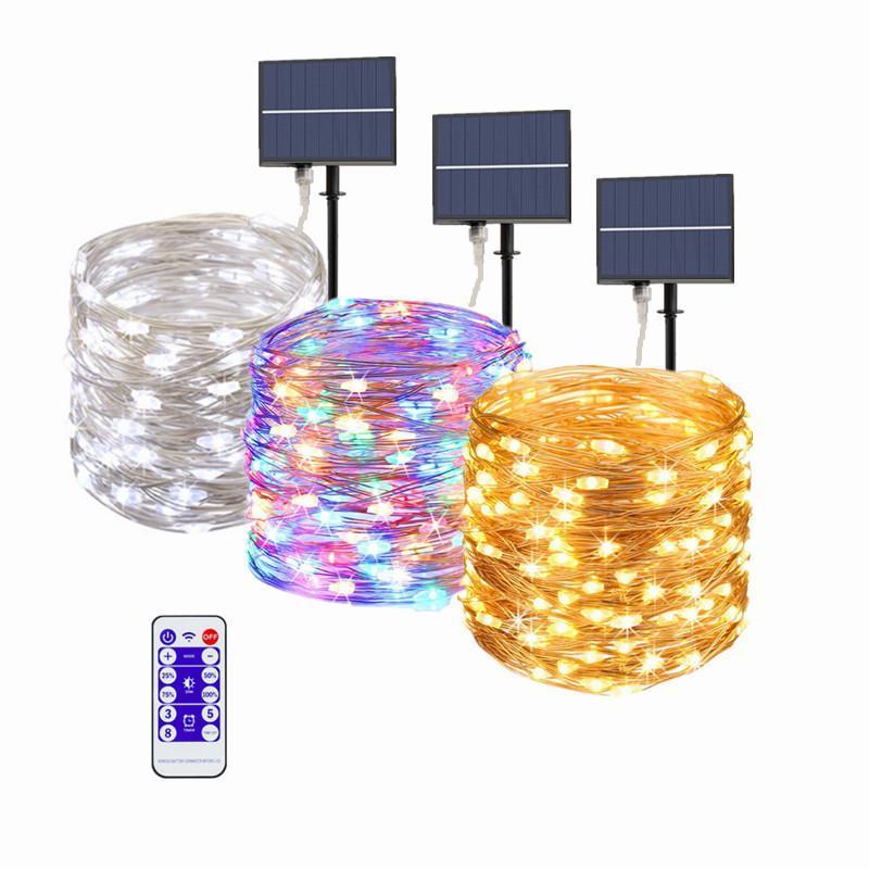 Solarlampen Fairy Lights String 10 ~ 30m LED-Licht im Freien Wasserdichte Garten Dekoration Lampe Weihnachtsgirlande