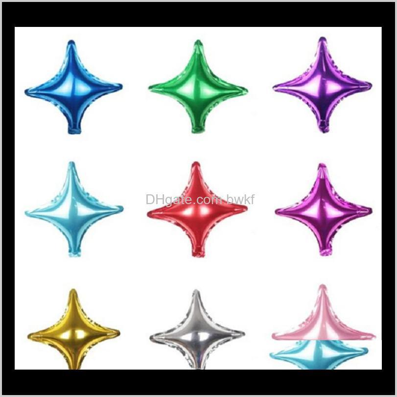 Другие события Праздничная партия поставляет домашний сад Drop Доставка 2021 10 26 36 дюймов алюминиевая фольга детское украшение звезды воздушный шар фоновая стена
