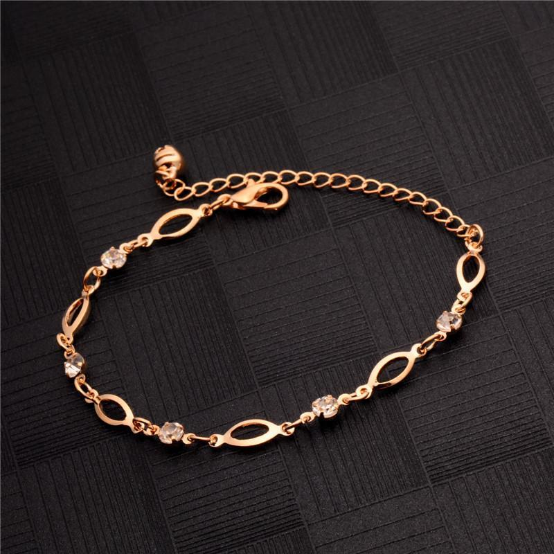 Gold anklet bracelet personality fashion casual wedding foot jewelry chain barefoot sandals beach anklet women