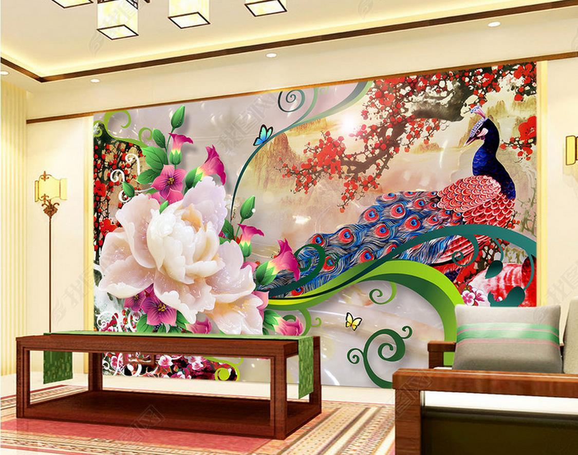 Home Decor Custom 3D Murals Wallpaper Painting Stereoscopic Relief Animal Parlor Bedroom Hotel Wall Decorations