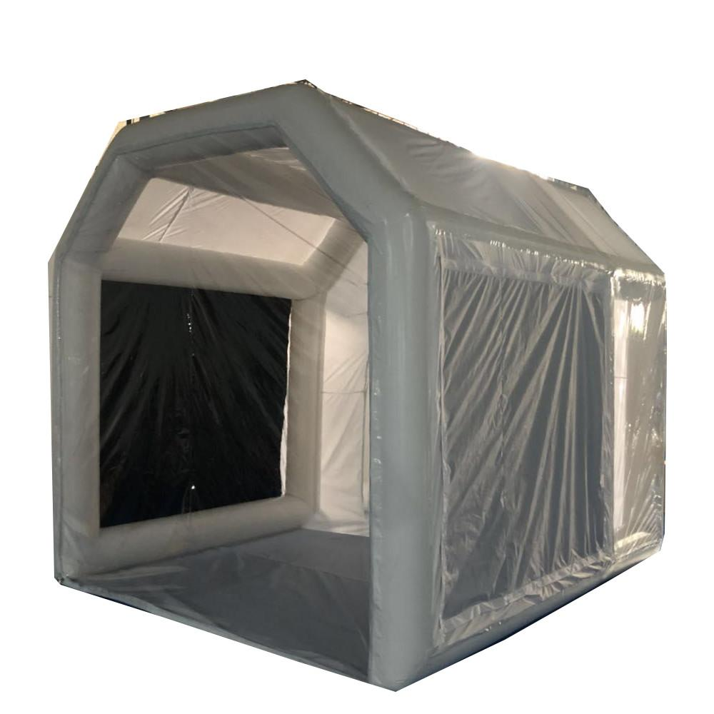 4x2.5x2.5m Airtight tube tent Inflatable Spray Booth with Filter System Portable Motorcycle Paint Parking Repair Workstation