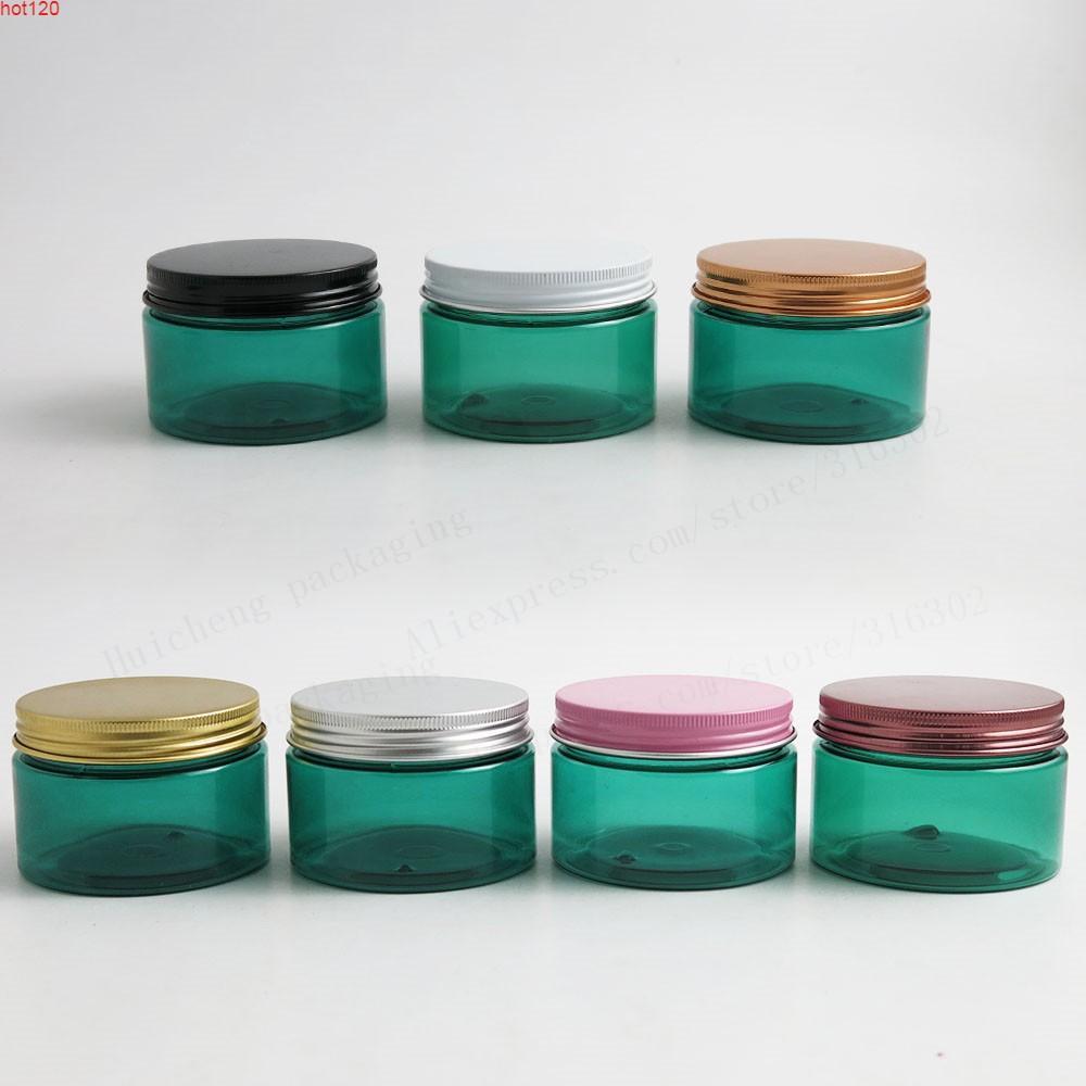 120g 4oz mavi pet kavanoz alüminyum kapak plastik kozmetik kapları ile makyaj şişe 20 adetgü