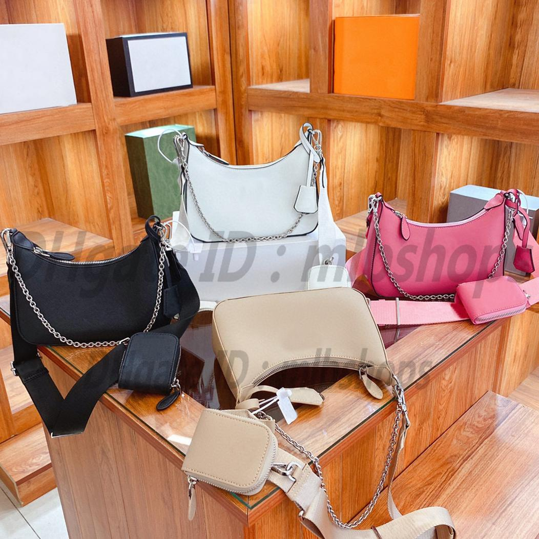 어깨 가방 고품질 LuxUrs 디자이너 P 정품 토트 여성 패션 3 인치 체인 클러치 쇠가죽 채찍 가방 핸드백 스트랩 크로스 바디 지갑 숙녀 지갑