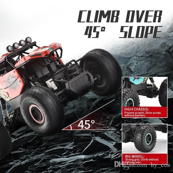 2.4G 1:16 Escala de escalada Control remoto Coches Descanso Cubierta de cuatro ruedas Suspensión Amortiguador RC Coche