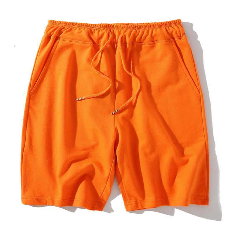 Spor Yaz Şort erkek Gevşek Rahat Capris 100% Pamuk Koşu Pantolon