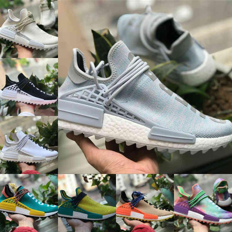 الجملة 2021 جديد nmd سباق الإنسان pharrell ويليامز الرجال النساء الجري الرياضة مصمم الأحذية NMDS أسود أبيض primedknit عارضة تشغيل حذاء Y17