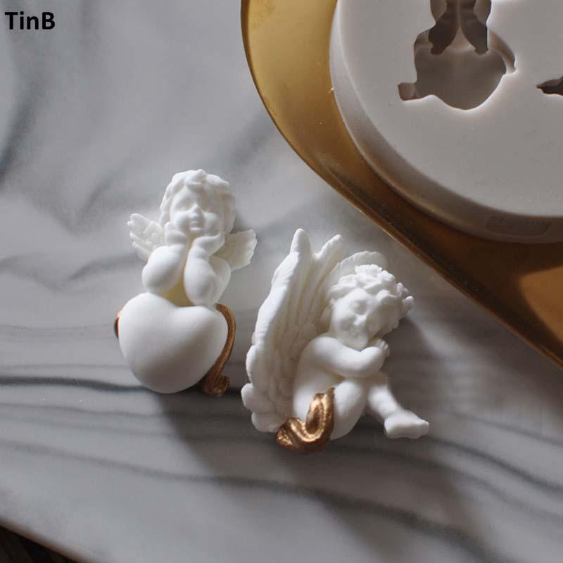 3D Angel Silikon Formen Fee Baby Seifenform Kuchen Dekoration Zucker Handwerk Werkzeuge Kerzenformen DIY