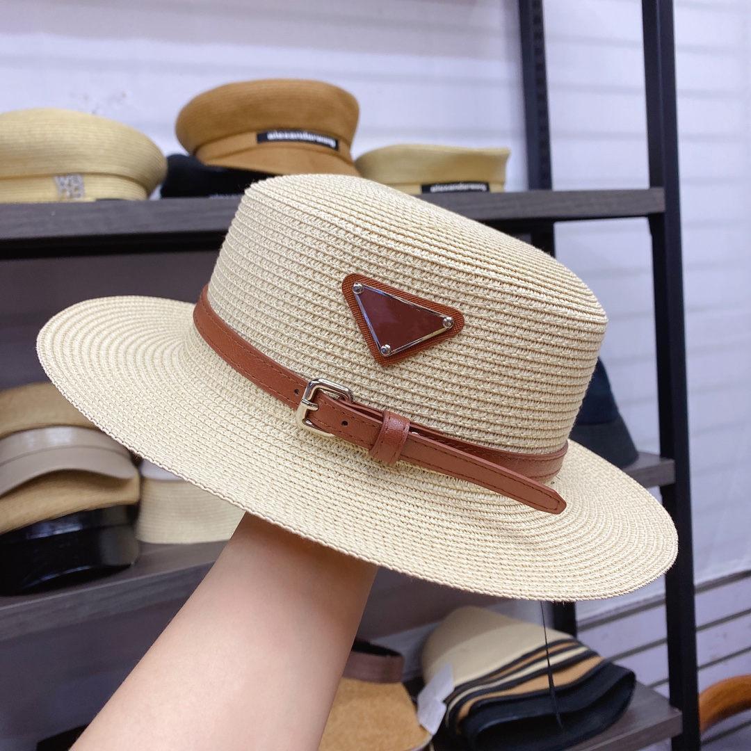 디자이너 모자 양동이 모자 패션 남자 여성이 장착 된 모자 고품질 짚 태양 모자