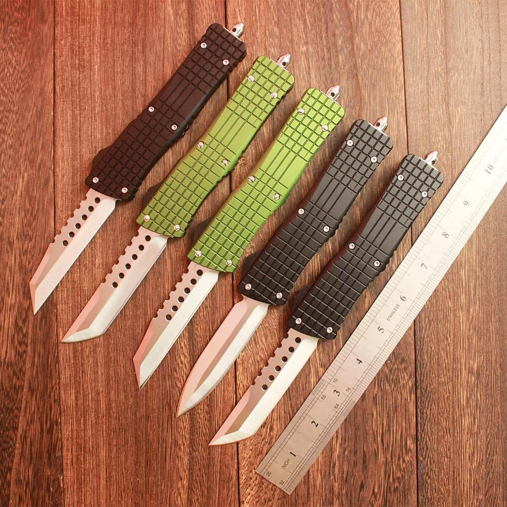MT Double Action Automatic knife Sea Drago D2 Blade T6061 Aviation Aluminum Handle Outdoor Camping EDC Tactical Knives
