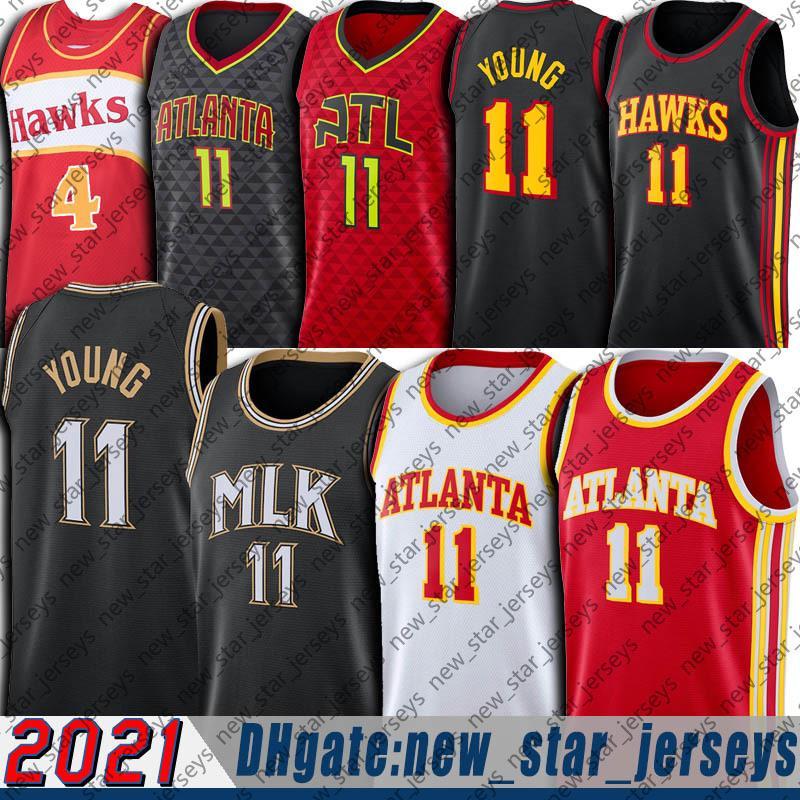 "Atlanta ""Hawks"" Jersey Trae 11 Jovem Jersey Mlk Jersey City ""Edição Jersey Spud 4 Webb Jerseys Dr. Martin Luther King Jr"