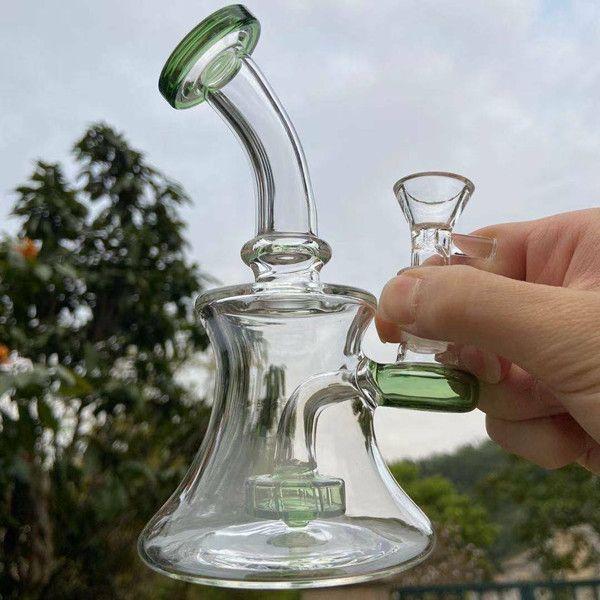 Narghilè becher Bong mini petroliferi con tubi dell'acqua Accessori per fumo Accessori per il fumo di vetro Bangs Shisha Ashcatcher Infestazione impianti con 14mm Banger