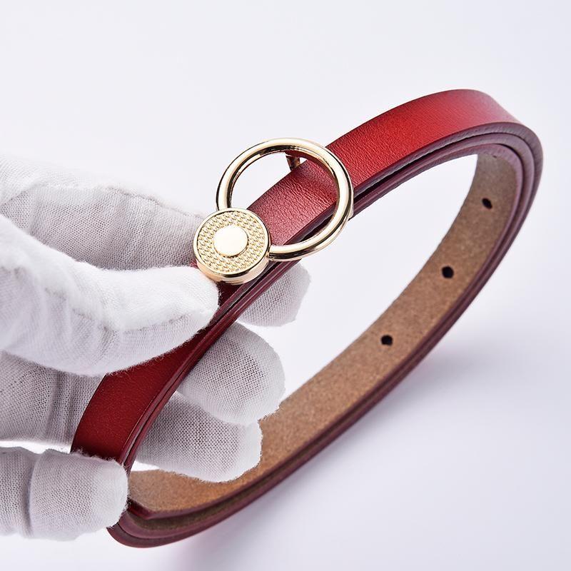 Cinture Snelle Donne Genuine Pelle Cintura in pelle Moda Anello in metallo Chiusura in metallo Cintura Femminile Designer Jean Strap Casual Lady 2021