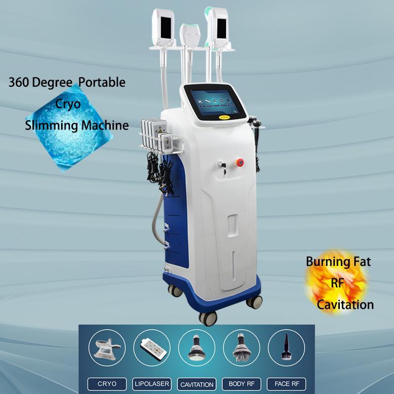 Cryolipolysis Vücut Şekillendirme Makinesi Yağ Donma 360 Kriyo Liposuction Yüz Kaldırma Şekillendirme Lipo Lazer Zayıflama Ekipmanları CE Onaylı 2 Yıl Garanti