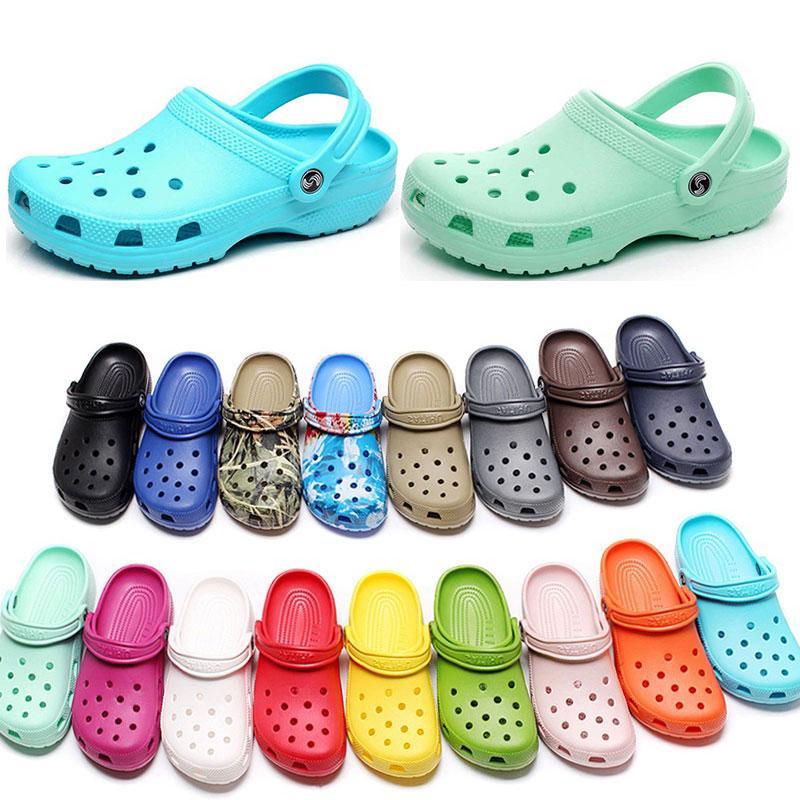 캐주얼 해변에서 여자 패션 슬립 방수 신발 남성 클래식 간호 Clog 병원 여성 슬리퍼 작업 의료 샌들 90 9