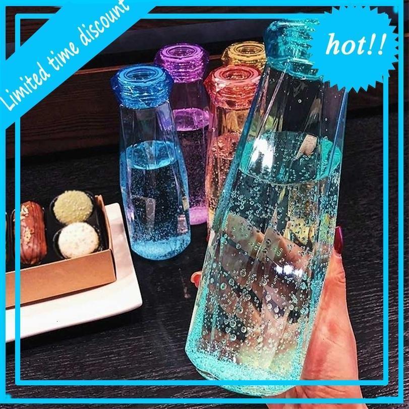 DHL 500 ml Plastik Şişe Moda Seyahat Kupa Spor Su Şişeleri Kamp Yürüyüş Su Isıtıcısı İçecek Kupası Elmas Hediye